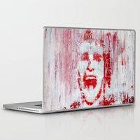 american psycho Laptop & iPad Skins featuring AMERICAN PSYCHO by John McGlynn