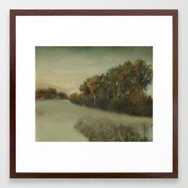 misty landscape Framed Art Print