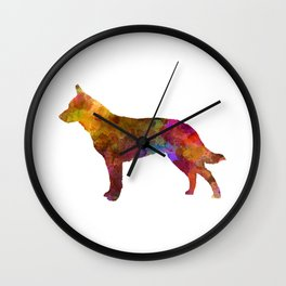 Australian Cattle Dog in watercolor Wall Clock