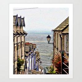 Clovelly Village Art Print