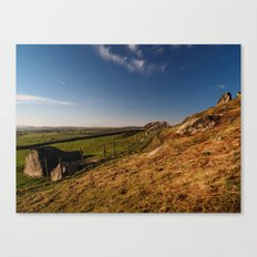 Approaching Almscliff Crag Canvas Print