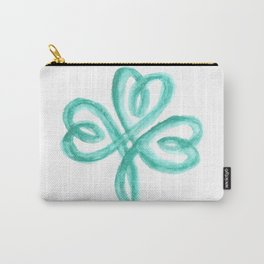Celtic Shamrock Watercolor Carry-All Pouch