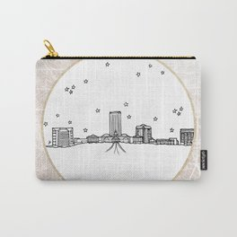 Tallahassee, Florida City Skyline Illustration Drawing Carry-All Pouch