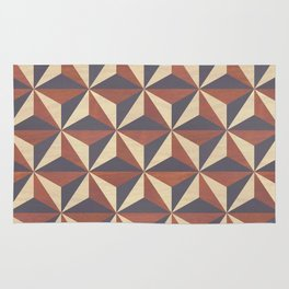 Cappuccino-Chocolate Art-Deco Pattern Rug