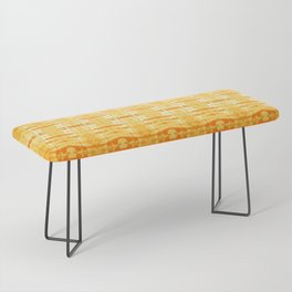 Satin Shibori Yellow Bench