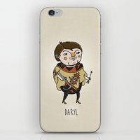 the walking dead iPhone & iPod Skins featuring The Walking Dead, Daryl by Jarvis Glasses