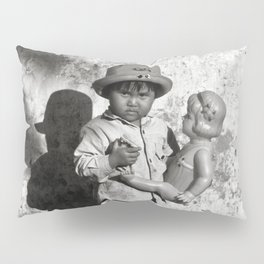 GIRL WITH DOLL in VIETNAM Pillow Sham