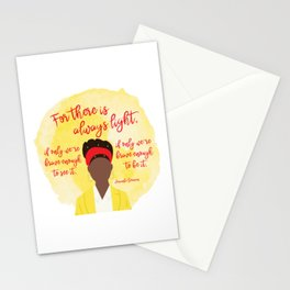 """Amanda Gorman """"The Hill We Climb"""" Quote Stationery Cards"""