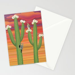 gila woodpeckers on saguaro cactus Stationery Cards