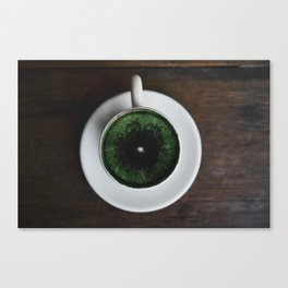 World in the cup Canvas Print