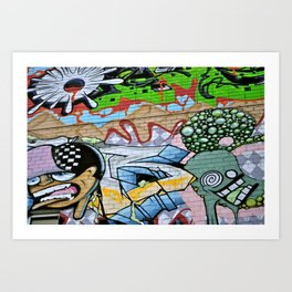 Street Art. Art Print