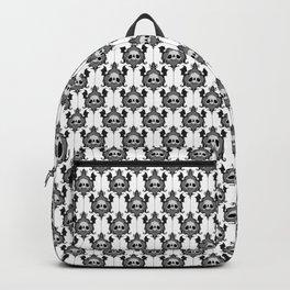 Halloween Damask White Backpack