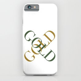 Green Gold iPhone Case