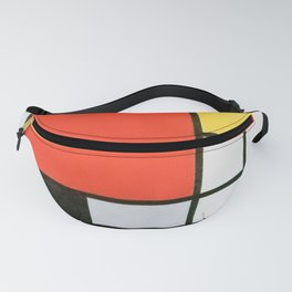 Mondrian's Composition in red, yellow, blue, and black (High Resolution) Fanny Pack