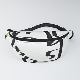 Numbers Face Fanny Pack