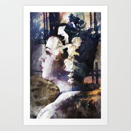 Looking Back Art Print