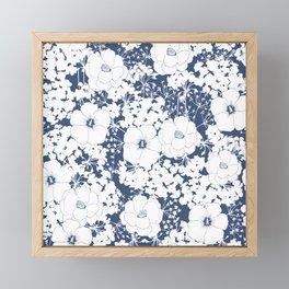 Snow flowers Framed Mini Art Print