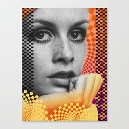 Supermodel Twiggy 2 - Supermodels of the Sixties Series Canvas Print