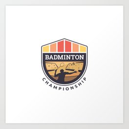 Badminton Badge Art Print