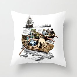 Checking for Contraband Throw Pillow