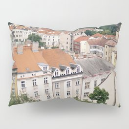 Prague Rooftops Pillow Sham