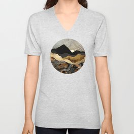 Copper and Gold Mountains Unisex V-Neck