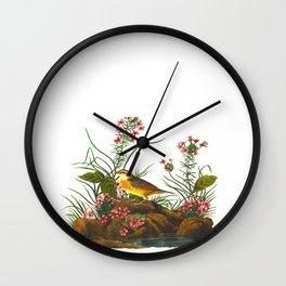 Yellow-winged Sparrow Wall Clock
