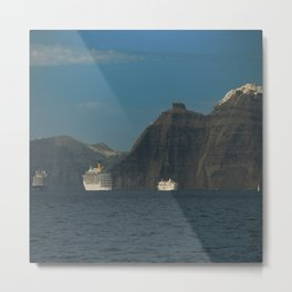 Santorini, Greece 5 Metal Print