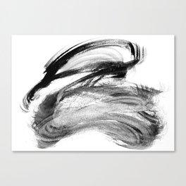 I wash my brush to get grey Canvas Print