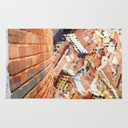 Florence Watercolor Painting Rug