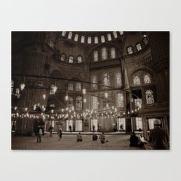 """Inside Sultan Ahmed Mosque (""""Blue Mosque"""", Istanbul, TURKEY) Canvas Print"""