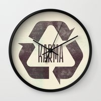 karma Wall Clocks featuring karma by manish mansinh