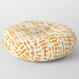 Abstract rectangles - orange Floor Pillow