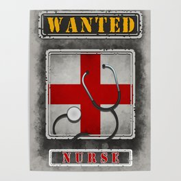 Wanted Nurse Poster Poster