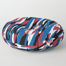 Patriotic Camouflage Red White and Blue with Stars American Pride Abstract Pattern Floor Pillow