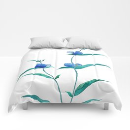 spreading dayflower Comforters