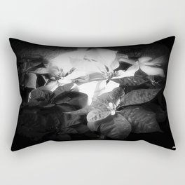 Mixed color Poinsettias 3 Dark Rectangular Pillow