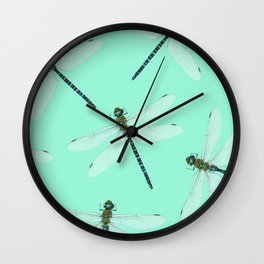 Dragonfly pattern Wall Clock