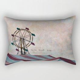 Live With Joy Rectangular Pillow