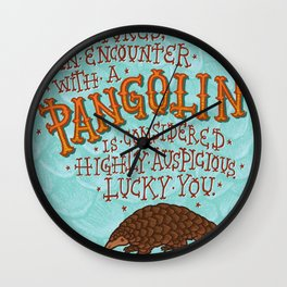Pangolin Wall Clock