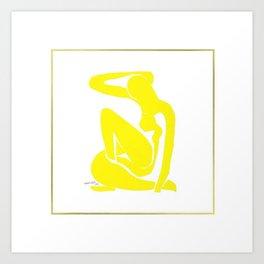 Henri Matisse, Nu Jaune II (Yellow Nude II) lithograph modernism portrait painting Art Print
