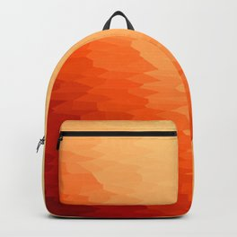 Orange Texture Ombre Backpack