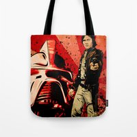 battlestar Tote Bags featuring Battlestar Galactica by TidalWave Productions