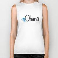 ohana Biker Tanks featuring OHANA by marcsaisofficial
