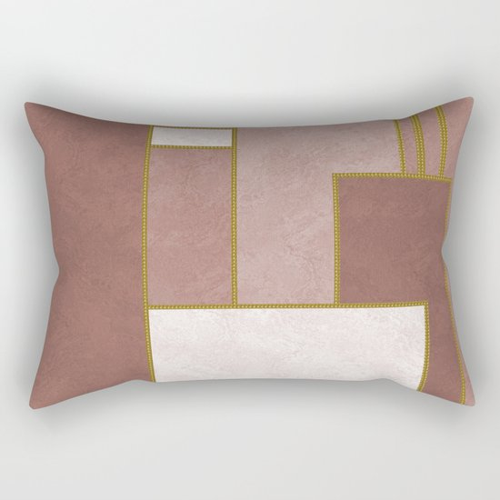 ABSTRACT GEOMETRIC 02 (marble) Rectangular Pillow