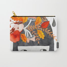 Autumn girl botanical watercolor illustration Carry-All Pouch