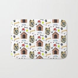 Cairn Terrier Face Half Drop Repeat Pattern Bath Mat