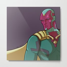 Vision from the MCU Metal Print
