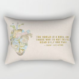 A Traveler's Heart + Quote Rectangular Pillow