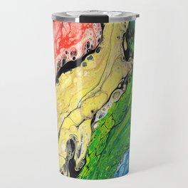 Abstract Rainbow (horizontal) Travel Mug